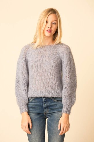Maiami Maiami Mohair Blouse Sleeve Sweater