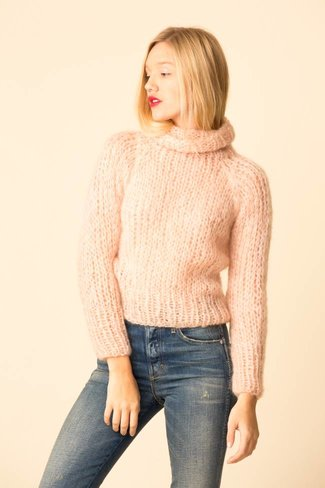 Maiami Maiami Mohair Turtleneck Sweater