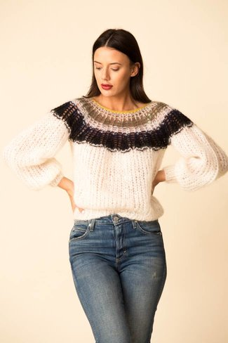 Maiami Maiami Mohair Pleated Sweater