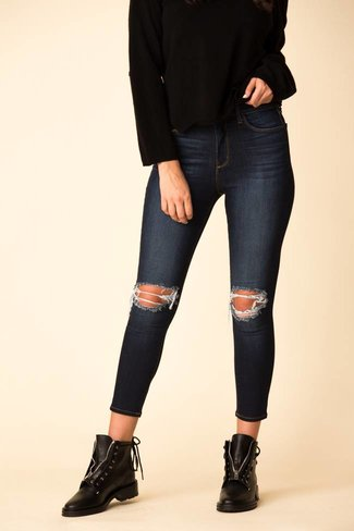 L'Agence L'Agence Margot High Rise Skinny - Baltic Destruct