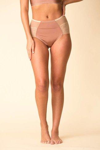 Fortnight Fortnight Seamless High Waist Bikini - Sable/Ivory