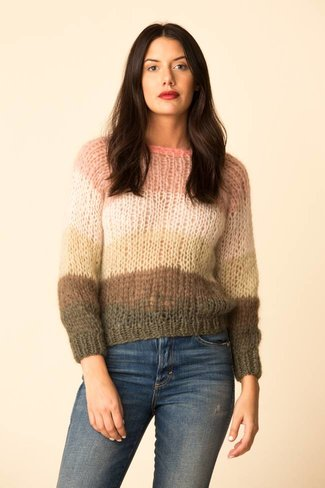 Maiami Maiami Mohair Basic Striped Sweater