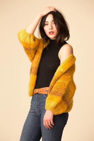 Maiami Maiami Tweed Melange Big Cardigan