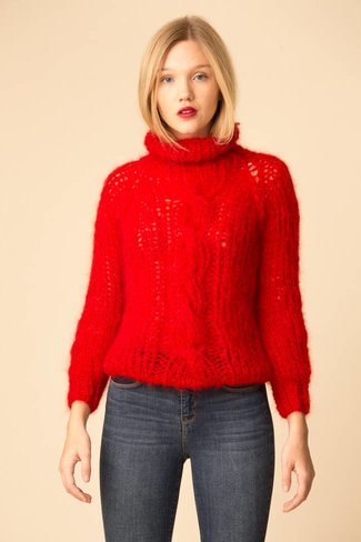 Maiami Maiami Mohair Cable Sweater