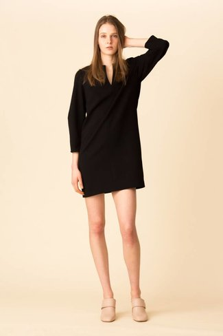 Tibi Tibi Structured Crepe Scuplted Sleeve Dress