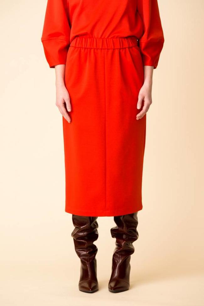 Tibi Tibi Mercer Knit High Waisted Skirt
