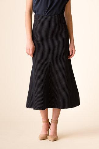Tibi Tibi Tech Poly Ribbed Sweater Skirt