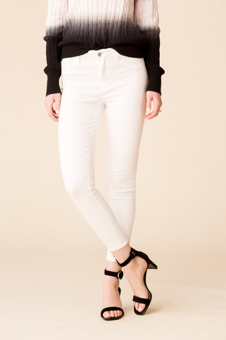 L'Agence L'Agence Margot High Rise Skinny - Blanc