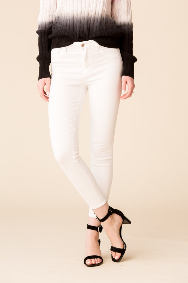 L'Agence L'Agence Margot High Rise Skinny - Blanc