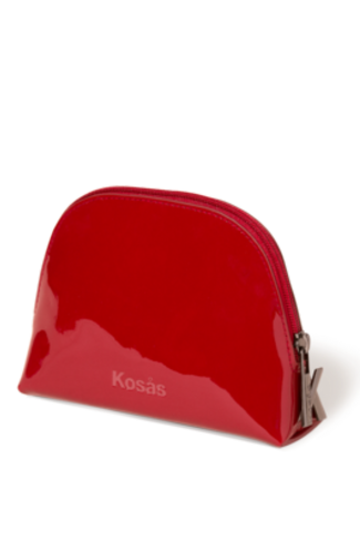 Kosas Kosas Patent Crimson Makeup Bag