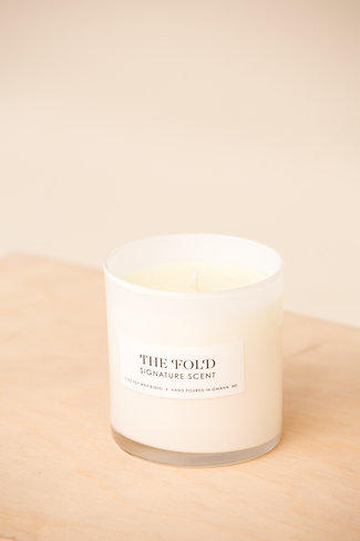 The Fold Signature Candle