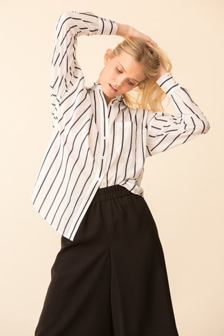 ATM ATM Stripe Cotton Linen BF Shirt