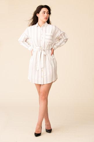 ATM ATM Stripe Shirt Dress
