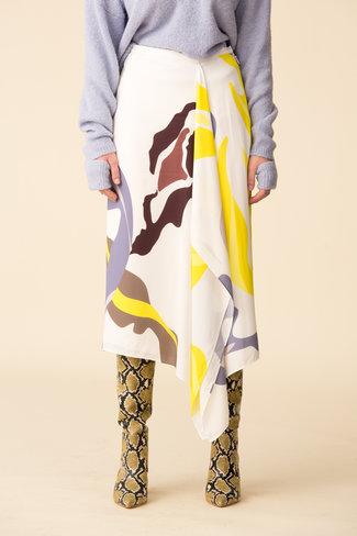 Tibi Tibi Ant Farm Print Asymmetrical Skirt