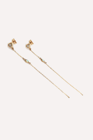 Thatch Aria Earring w. cz and opal stones