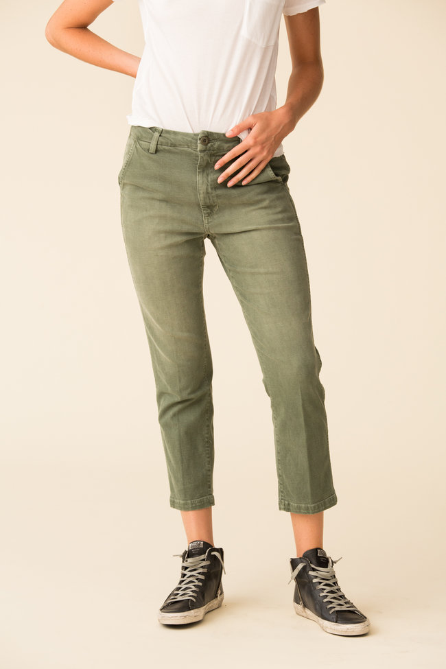 AMO AMO Easy Trouser Relaxed Crop Straight