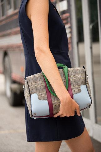 Tibi Tibi Mercredi Small Plaid Bag