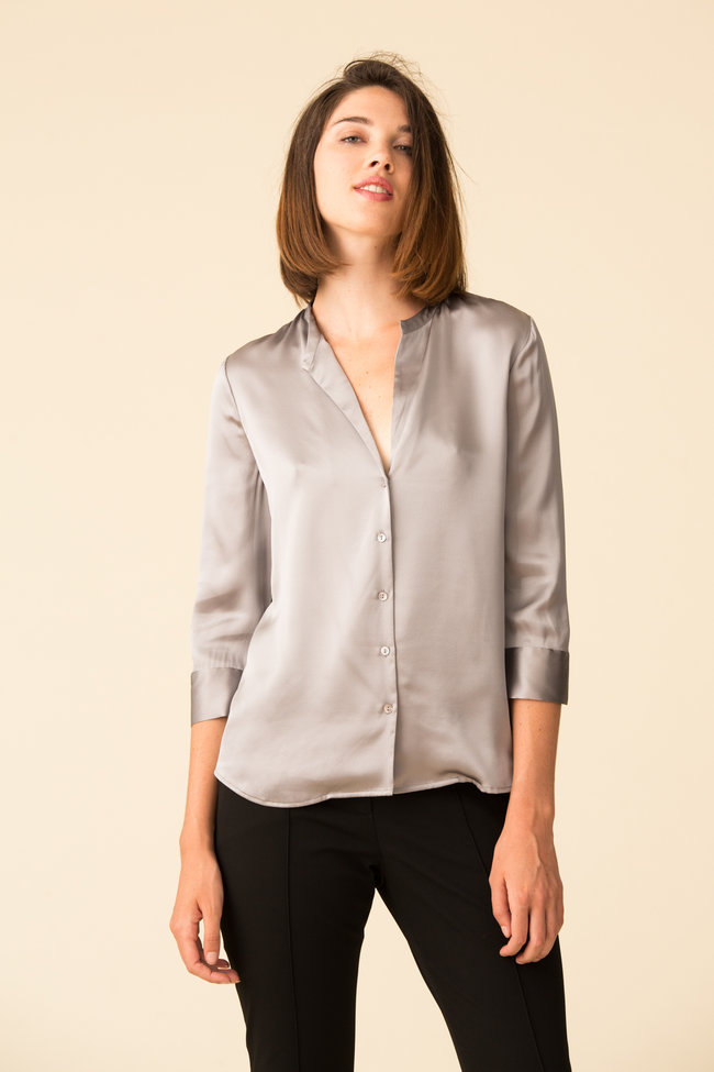 L'Agence L'Agence Aoki 3/4 Sleeve Blouse