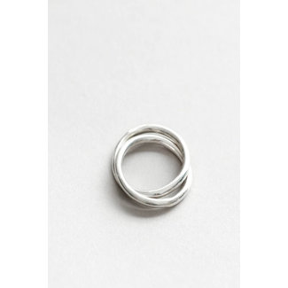 Wolf Circus Wolf Circus Celine Double Band Link Ring