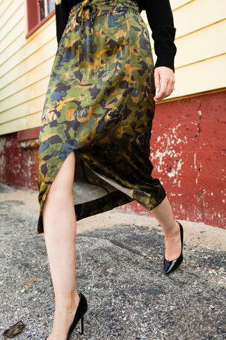 Ganni Ganni Heavy Satin Skirt