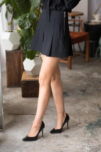 Tibi Tibi Anson Stretch Pleated Skort