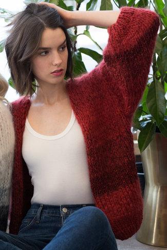 Maiami Maiami Tweed Melange Big Cardigan