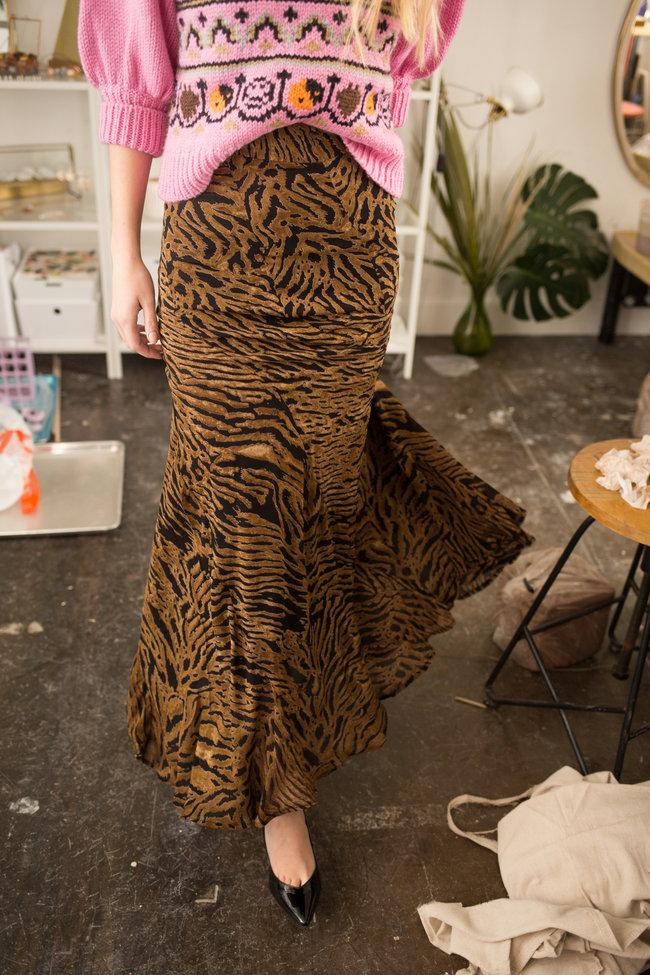 Ganni Ganni Printed Georgette Skirt
