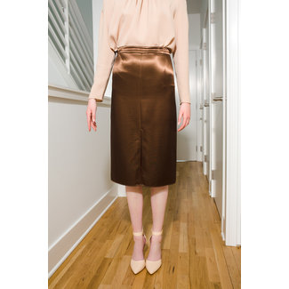 Tibi Tibi Satin Pencil Skirt