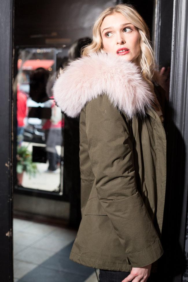 Yves Salomon Yves Salomon Army Jacket - Bachette/Rabbit/Fox Trim