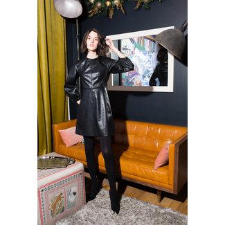 Tibi Tibi Structured Faux Leather Mini Dress