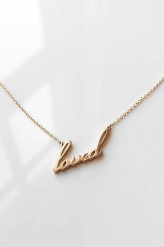 Thatch Thatch Loved Script Necklace