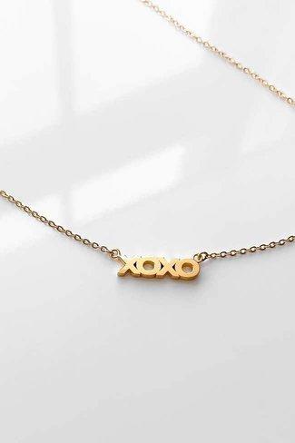 Thatch Thatch xoxo Script Necklace