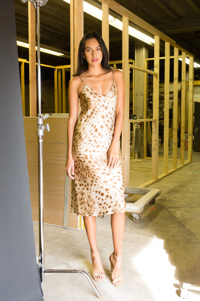 L'Agence L'Agence Jodie V Neck Slip Dress