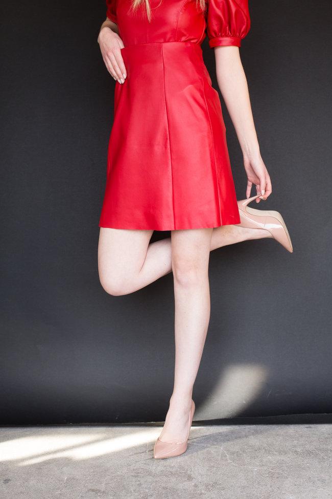 VEDA VEDA Alexa Leather Skirt