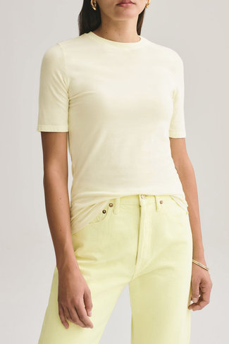 Agolde Agolde Elie Mid Length Slim Fitted Tee