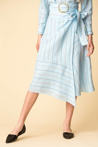 Derek Lam Derek Lam Asymmetrical Wrap Skirt