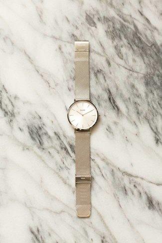 CLUSE CLUSE La Boheme Mesh Watch - Full Silver