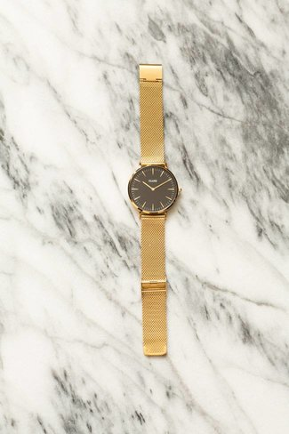 CLUSE CLUSE La Boheme Mesh Watch - Gold / Black