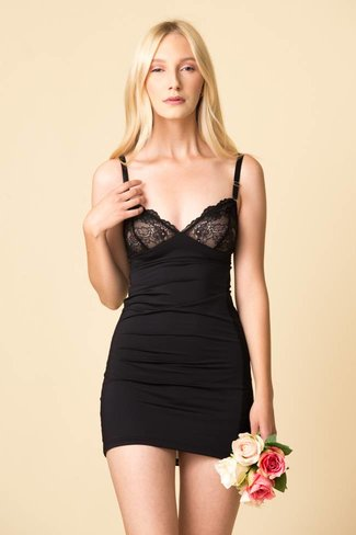 Fortnight Fortnight Ivy Classic Cut-Out Slip - Black