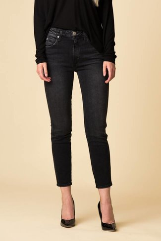 AMO AMO High Rise Stix Crop - Washed Black