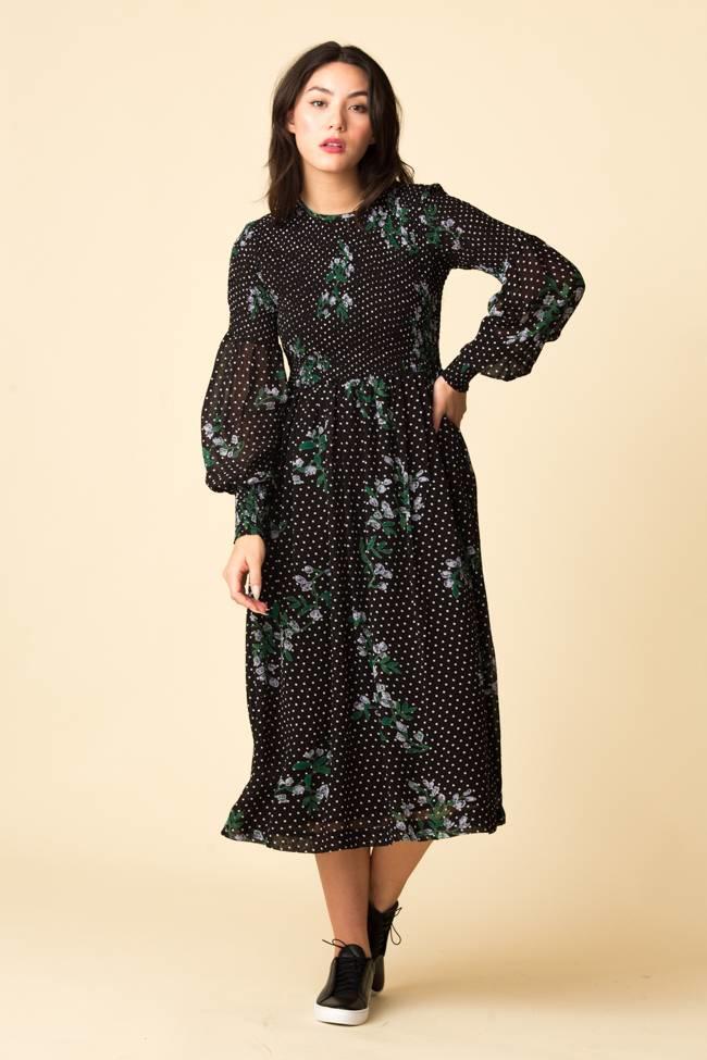 cf51e4a836e5 Ganni Ganni Rometty Georgette Smock Dress - Black