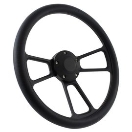 "Forever Sharp Muscle Wheel with Horn Button & Adapter - Black/Black Wrap - 14"" - 1099"