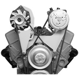 Alan Grove Components Compressor Bracket - SBC - Short Water Pump - Driver Side - 100L