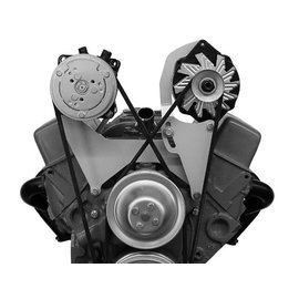 Alan Grove Components Compressor Bracket - Small Block Chevy - Short Water Pump - Passenger Side - 100R