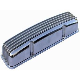 Affordable Street Rods SBC 57-86 Valve Covers - Tall w/o Holes - Finned - Polished