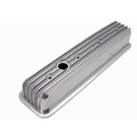 SBC 87 & Up Valve Covers - Tall with Holes - Finned - Polished