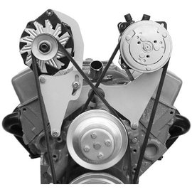 Alan Grove Components Compressor Bracket - Small Block Chevy - Long Water Pump - Driver Side - 101L