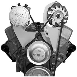 Alan Grove Components Compressor Bracket - SBC - Long Water Pump - Passenger Side - 101R
