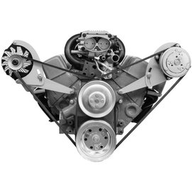 Alan Grove Components Compressor Bracket - Small Block Chevy - Short Water Pump - Driver Side - 113L