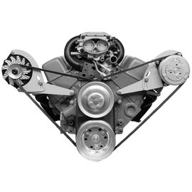 Alan Grove Components Compressor Bracket - Small Block Chevy - Short Water Pump - Driver Side - 113L-Low